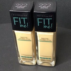 Maybelline Fit Me! True Beige #222 x 2 Bottles